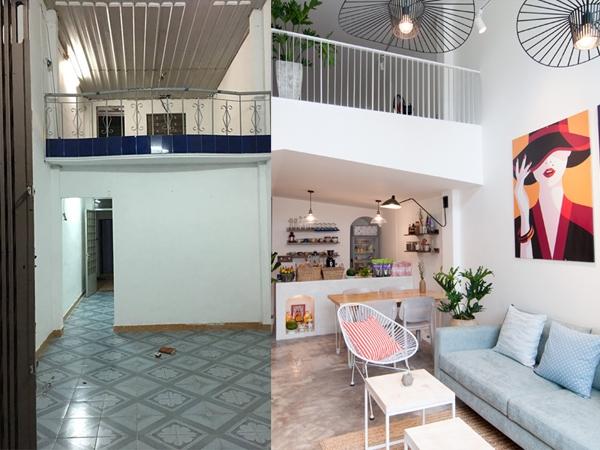 Hình ảnh trước và sau khi cải tạo nhà