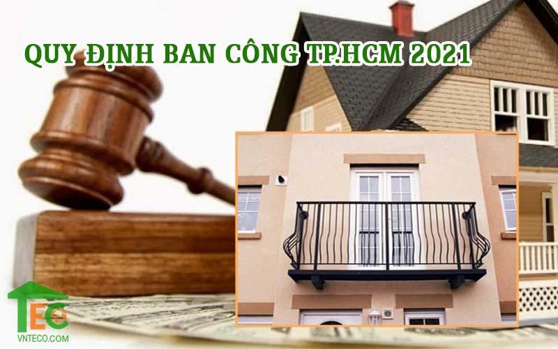 Quy định ban công TP HCM 2021