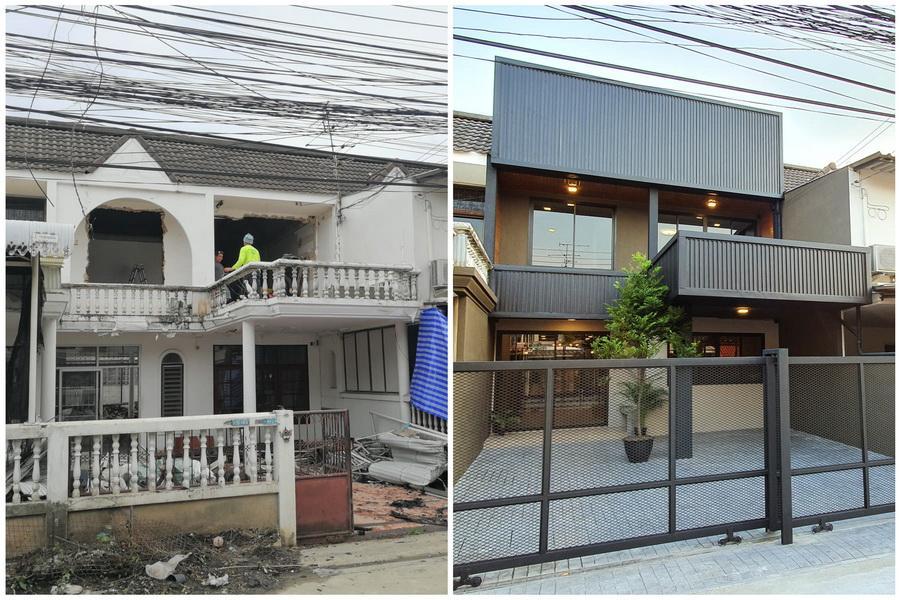 Hình ảnh trước và sau khi cải tạo nhà ở