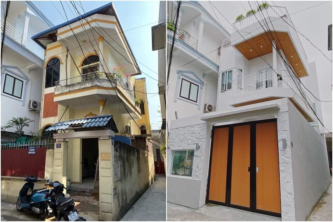 hình ảnh ngôi nhà trước và sau khi cải tạo